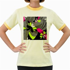 Abstract Illustration Nameless Fantasy Women s Fitted Ringer T Shirts