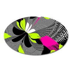 Abstract Illustration Nameless Fantasy Oval Magnet