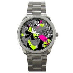 Abstract Illustration Nameless Fantasy Sport Metal Watch