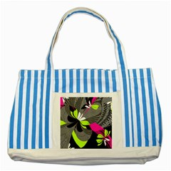 Abstract Illustration Nameless Fantasy Striped Blue Tote Bag
