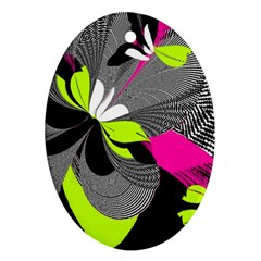 Abstract Illustration Nameless Fantasy Oval Ornament (Two Sides)