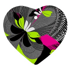 Abstract Illustration Nameless Fantasy Heart Ornament (two Sides)