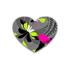 Abstract Illustration Nameless Fantasy Heart Coaster (4 pack)