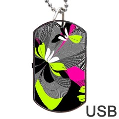 Abstract Illustration Nameless Fantasy Dog Tag USB Flash (Two Sides)