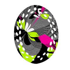Abstract Illustration Nameless Fantasy Oval Filigree Ornament (Two Sides)