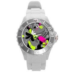 Abstract Illustration Nameless Fantasy Round Plastic Sport Watch (L)