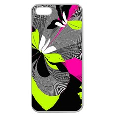 Abstract Illustration Nameless Fantasy Apple Seamless iPhone 5 Case (Clear)