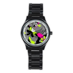 Abstract Illustration Nameless Fantasy Stainless Steel Round Watch