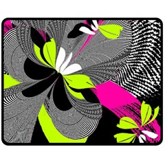 Abstract Illustration Nameless Fantasy Double Sided Fleece Blanket (Medium)