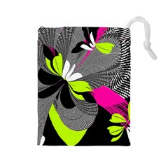 Abstract Illustration Nameless Fantasy Drawstring Pouches (large)