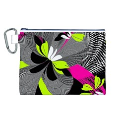 Abstract Illustration Nameless Fantasy Canvas Cosmetic Bag (l)