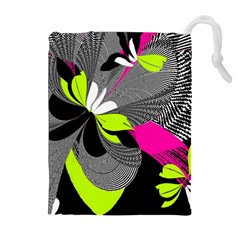 Abstract Illustration Nameless Fantasy Drawstring Pouches (Extra Large)