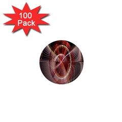 Fractal Fabric Ball Isolated On Black Background 1  Mini Magnets (100 pack)