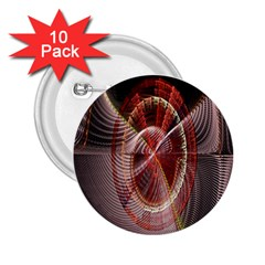 Fractal Fabric Ball Isolated On Black Background 2.25  Buttons (10 pack)
