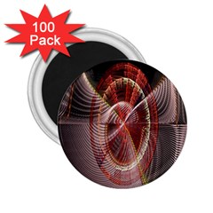 Fractal Fabric Ball Isolated On Black Background 2.25  Magnets (100 pack)