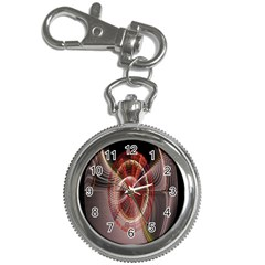 Fractal Fabric Ball Isolated On Black Background Key Chain Watches