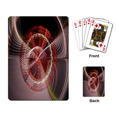 Fractal Fabric Ball Isolated On Black Background Playing Card