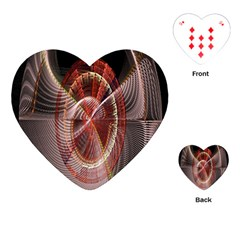 Fractal Fabric Ball Isolated On Black Background Playing Cards (Heart)