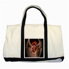 Fractal Fabric Ball Isolated On Black Background Two Tone Tote Bag