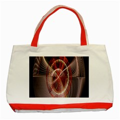 Fractal Fabric Ball Isolated On Black Background Classic Tote Bag (red)