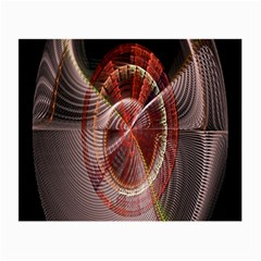 Fractal Fabric Ball Isolated On Black Background Small Glasses Cloth (2-Side)