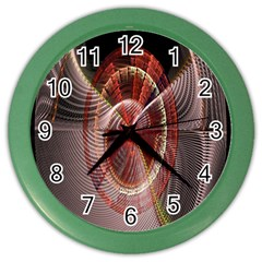 Fractal Fabric Ball Isolated On Black Background Color Wall Clocks
