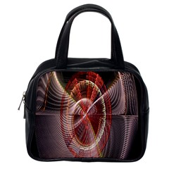 Fractal Fabric Ball Isolated On Black Background Classic Handbags (one Side)