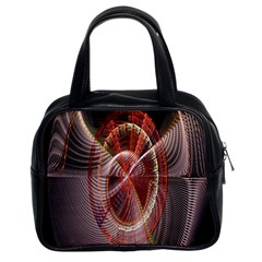 Fractal Fabric Ball Isolated On Black Background Classic Handbags (2 Sides)