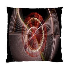 Fractal Fabric Ball Isolated On Black Background Standard Cushion Case (Two Sides)