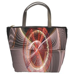 Fractal Fabric Ball Isolated On Black Background Bucket Bags