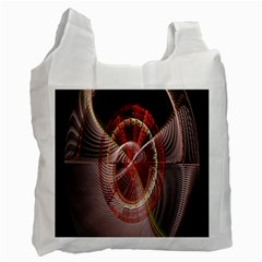 Fractal Fabric Ball Isolated On Black Background Recycle Bag (One Side)