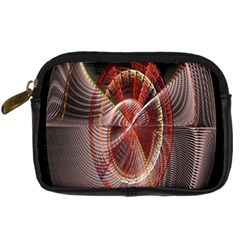 Fractal Fabric Ball Isolated On Black Background Digital Camera Cases