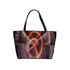 Fractal Fabric Ball Isolated On Black Background Shoulder Handbags