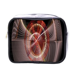 Fractal Fabric Ball Isolated On Black Background Mini Toiletries Bags
