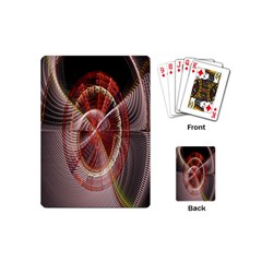 Fractal Fabric Ball Isolated On Black Background Playing Cards (Mini)