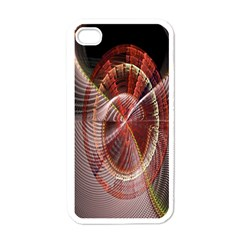 Fractal Fabric Ball Isolated On Black Background Apple iPhone 4 Case (White)