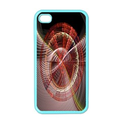Fractal Fabric Ball Isolated On Black Background Apple Iphone 4 Case (color)