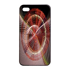 Fractal Fabric Ball Isolated On Black Background Apple Iphone 4/4s Seamless Case (black)