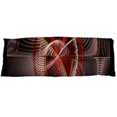 Fractal Fabric Ball Isolated On Black Background Body Pillow Case Dakimakura (two Sides)