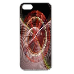 Fractal Fabric Ball Isolated On Black Background Apple Seamless Iphone 5 Case (clear)