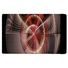 Fractal Fabric Ball Isolated On Black Background Apple iPad 2 Flip Case