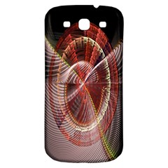 Fractal Fabric Ball Isolated On Black Background Samsung Galaxy S3 S Iii Classic Hardshell Back Case