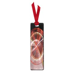 Fractal Fabric Ball Isolated On Black Background Small Book Marks