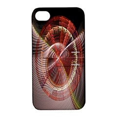Fractal Fabric Ball Isolated On Black Background Apple iPhone 4/4S Hardshell Case with Stand