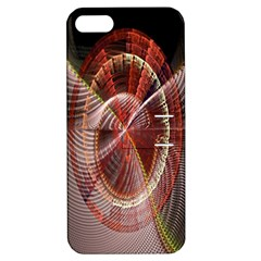 Fractal Fabric Ball Isolated On Black Background Apple iPhone 5 Hardshell Case with Stand