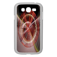 Fractal Fabric Ball Isolated On Black Background Samsung Galaxy Grand Duos I9082 Case (white)