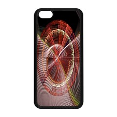 Fractal Fabric Ball Isolated On Black Background Apple iPhone 5C Seamless Case (Black)