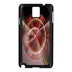 Fractal Fabric Ball Isolated On Black Background Samsung Galaxy Note 3 N9005 Case (black)