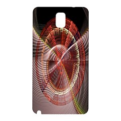 Fractal Fabric Ball Isolated On Black Background Samsung Galaxy Note 3 N9005 Hardshell Back Case