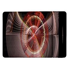 Fractal Fabric Ball Isolated On Black Background Samsung Galaxy Tab Pro 12.2  Flip Case
